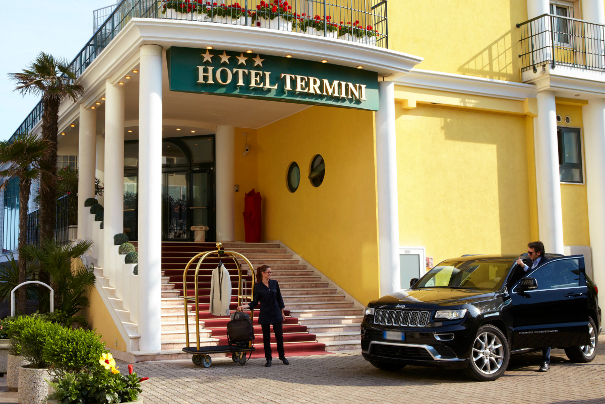 A warm welcome to Termini beach Hotel with lagguage service