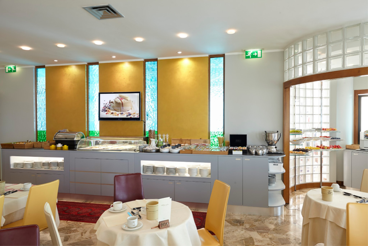 Termini beach Hotel breakfasts buffet, ua 4 stars hotel front to the sea